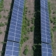 Aerial View To Solar Power Plant. Industrial Background on Renewable Resources Theme. Flying Over - VideoHive Item for Sale