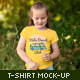 Girls T-shirt Mock-up - GraphicRiver Item for Sale