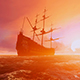 Sailing Ship In Drift - VideoHive Item for Sale