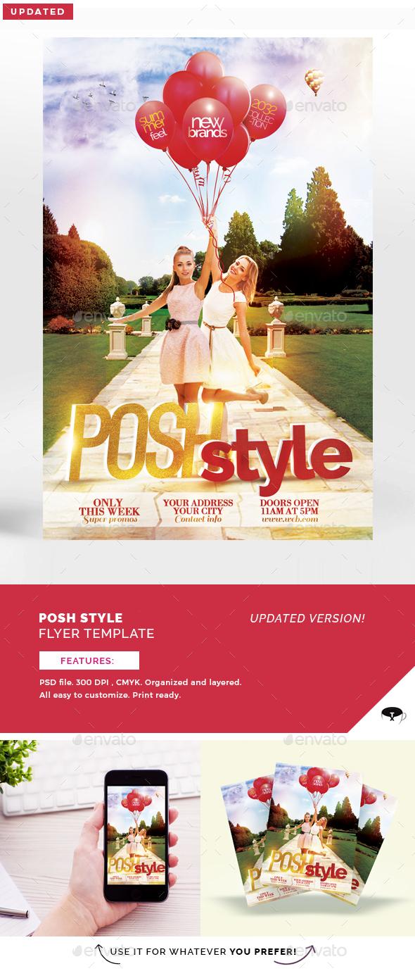 Posh Style Flyer Template - Flyers Print Templates