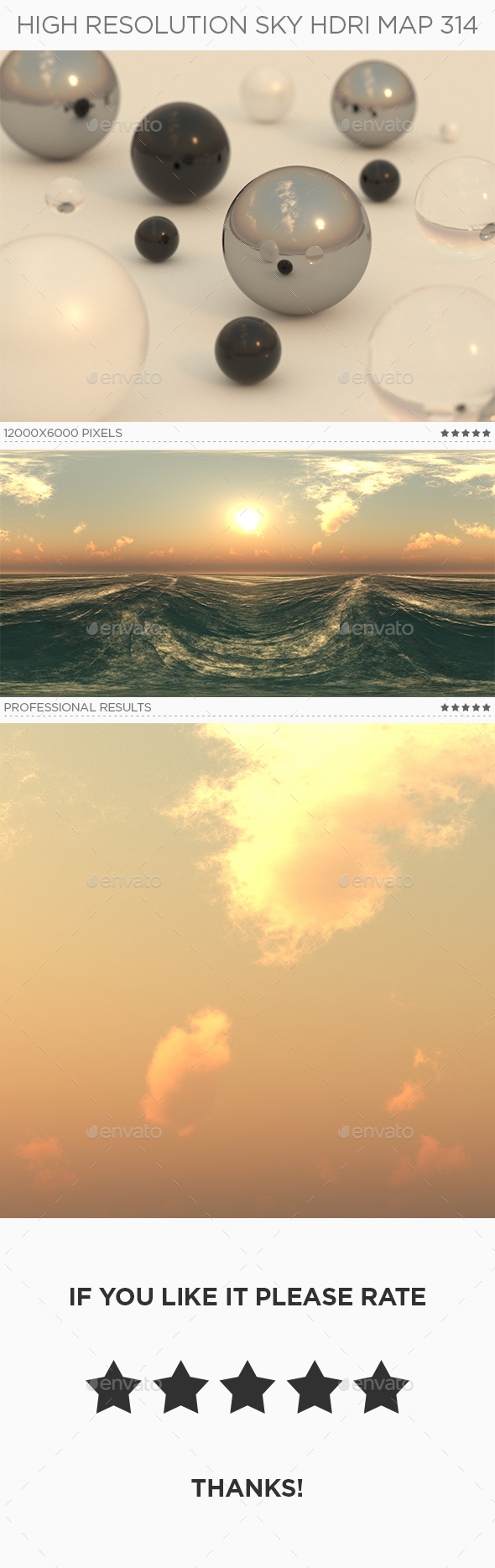High Resolution Sky HDRi Map 314 - 3DOcean Item for Sale