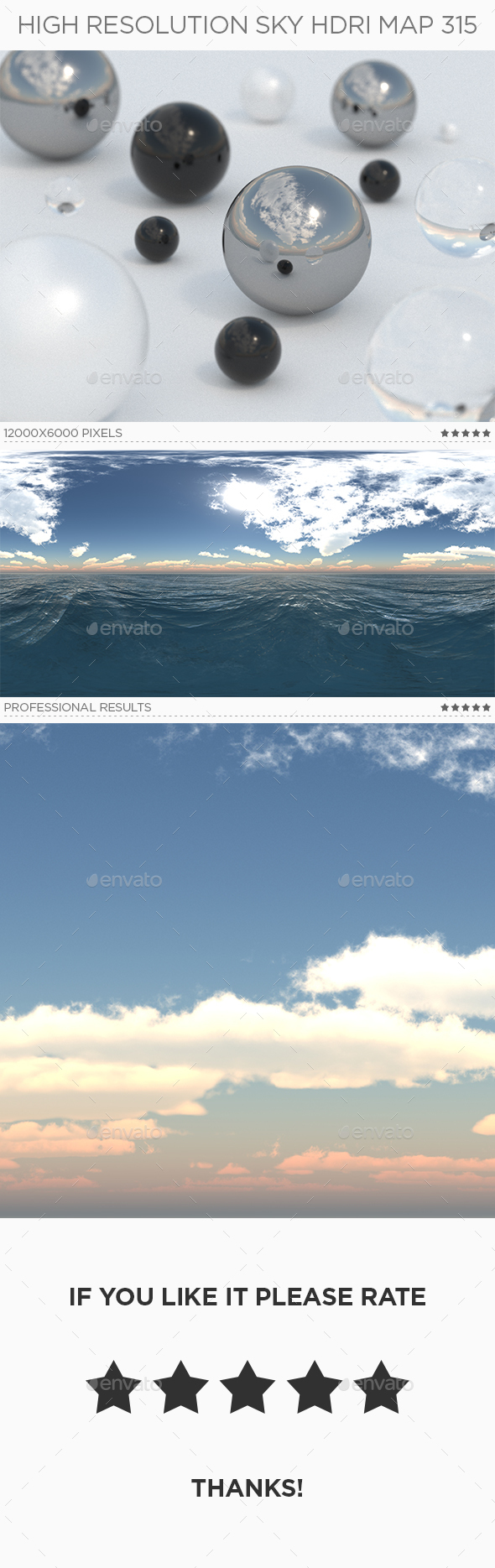 High Resolution Sky HDRi Map 315 - 3DOcean Item for Sale