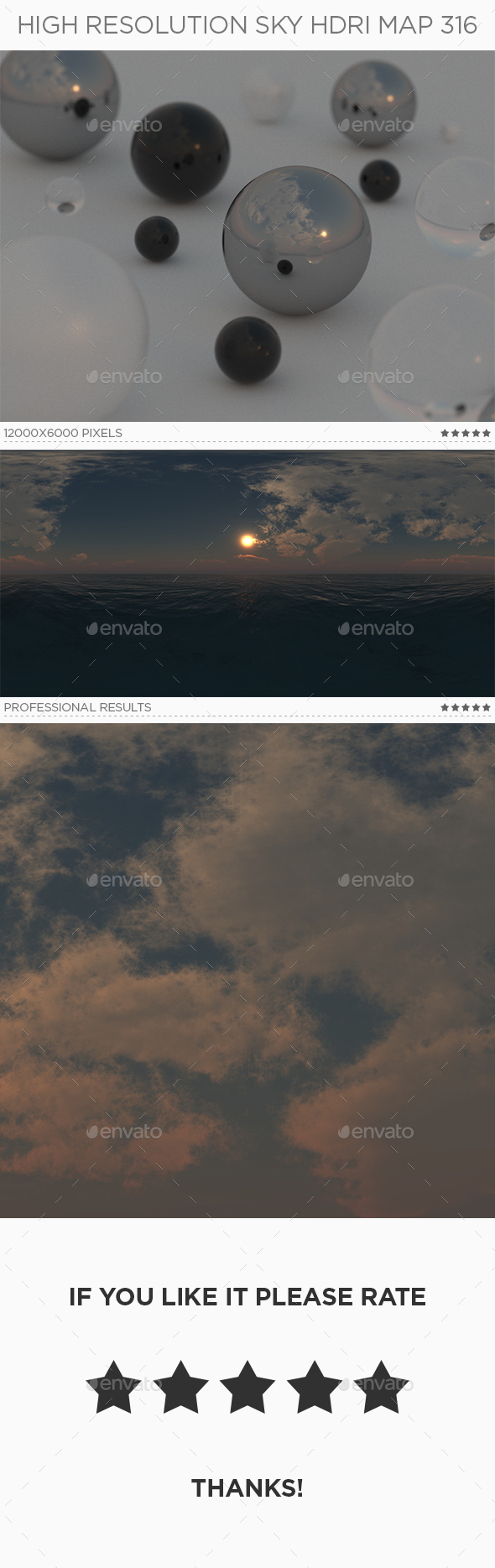 High Resolution Sky HDRi Map 316 - 3DOcean Item for Sale