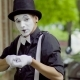 Young Mime Is Fooling Around on the Street - VideoHive Item for Sale