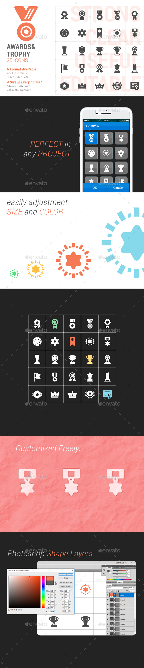 Awards & Trophy Part Filled Icon - Icons