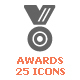 Awards & Trophy Part Filled Icon - GraphicRiver Item for Sale