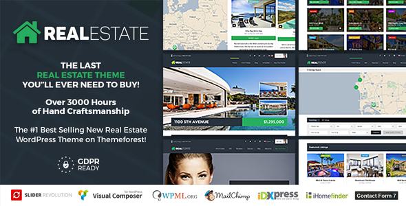 Real Estate 7 - Real Estate WordPress Theme - Real Estate WordPress