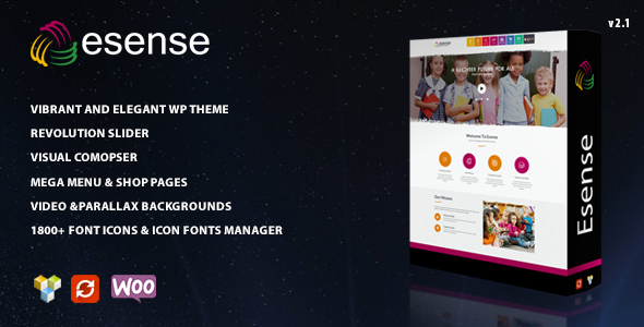 Esense - Vibrant and elegant WP theme