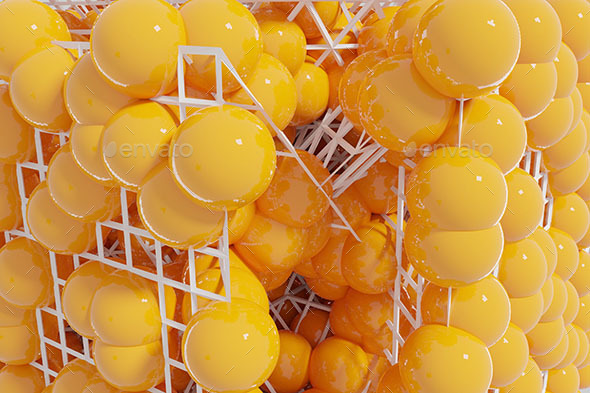 Wireframe Spheres Background - 3D Backgrounds