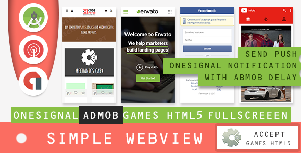Simple Webview - Android Studio - CodeCanyon Item for Sale
