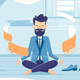 Businessman in Working Balance of Zen - GraphicRiver Item for Sale