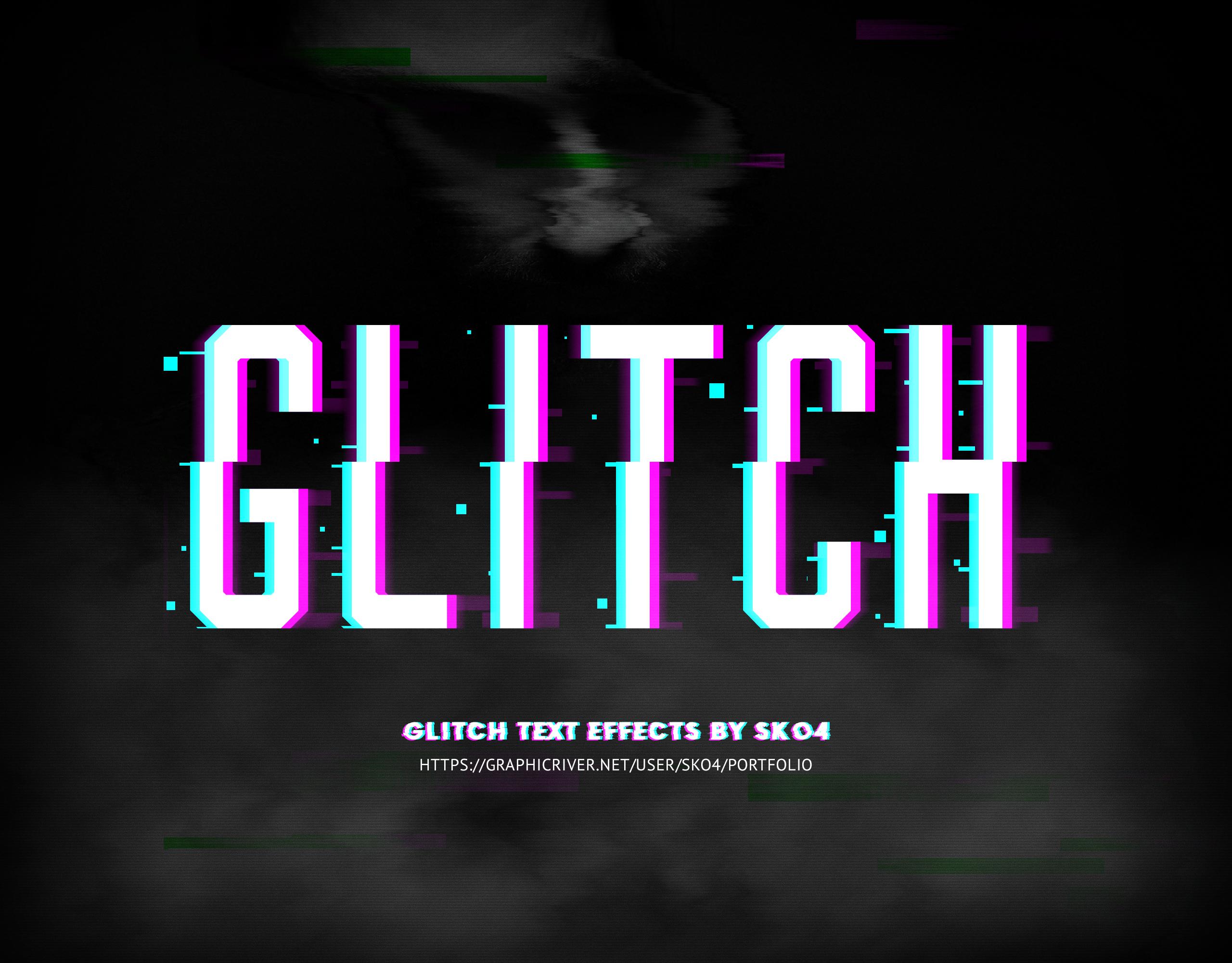 glitch text   glitch background fx by sko4