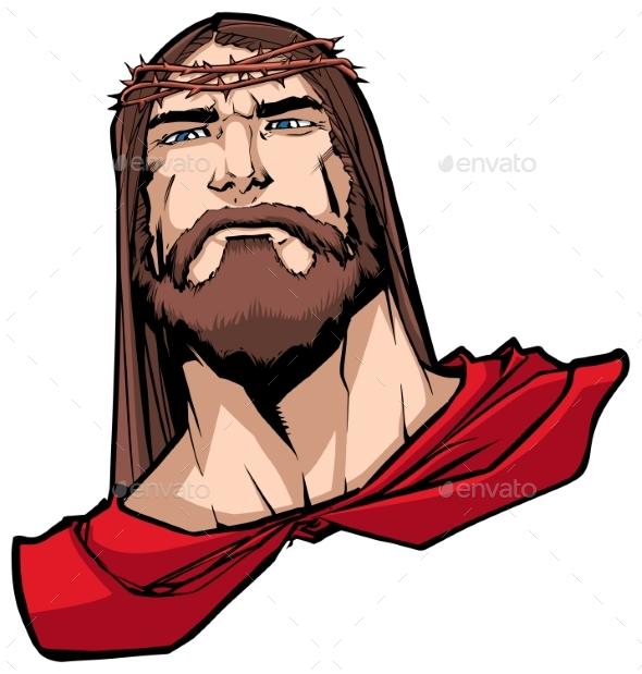 Jesus Superhero Portrait - Religion Conceptual