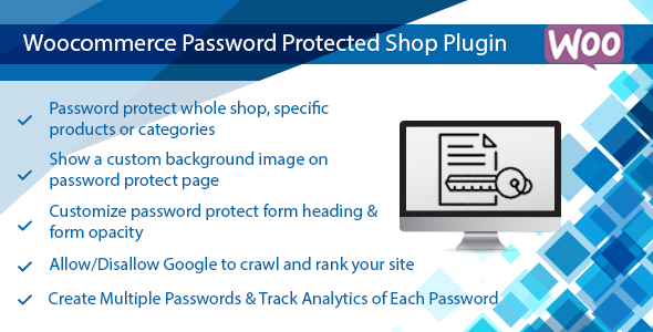 Woocommerce Password Protected Products, Categories or Shop Plugin            Nulled