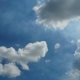 Clouds Are Moving in the Blue Sky. - VideoHive Item for Sale