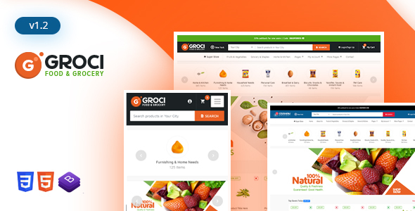Groci - Organic Food & Grocery Market Template