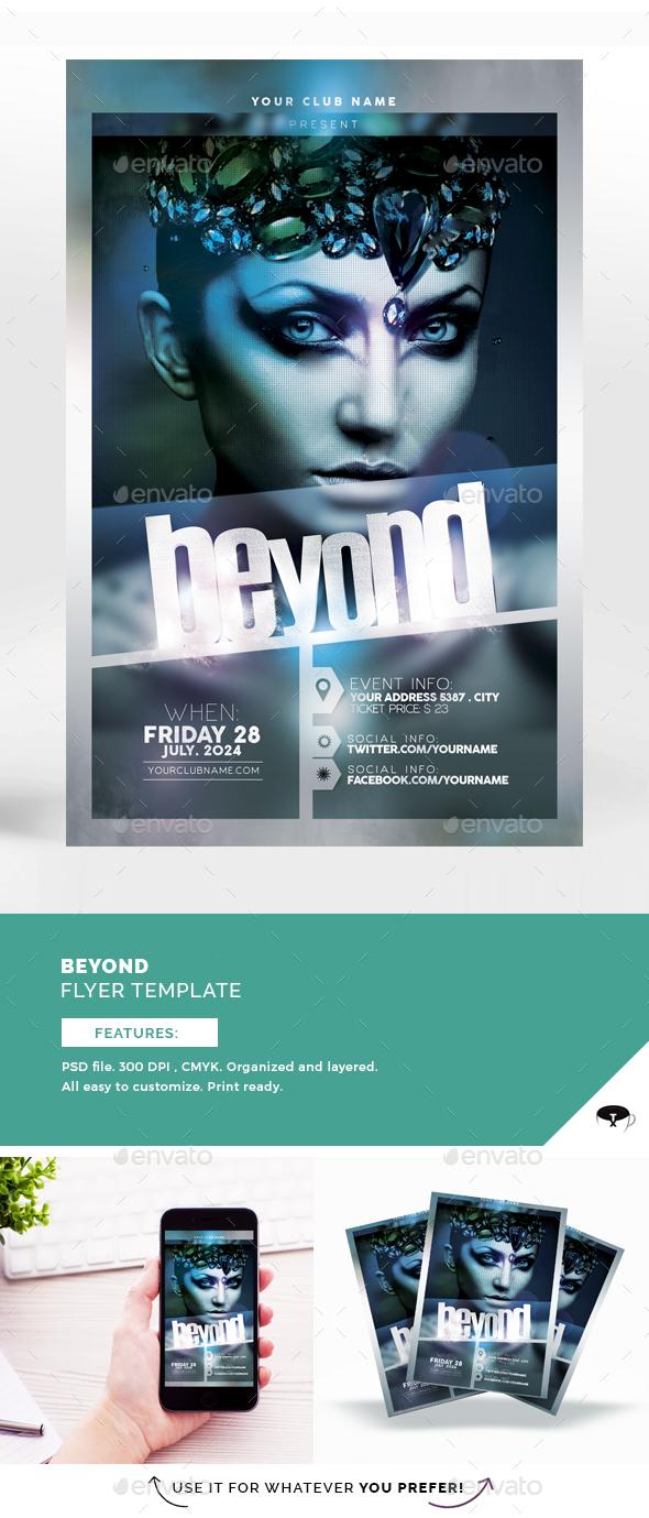 Beyond Flyer Template - Flyers Print Templates