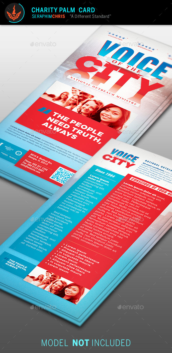 Voice of the City Charity Rack Card Template - Corporate Flyers