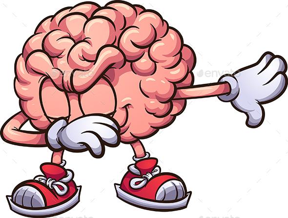 Dabbing Brain - Health/Medicine Conceptual