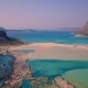 Aerial Drone Footage Bay of Balos, Crete - Drone Lowering Position - VideoHive Item for Sale