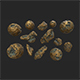 Asteroid gold - 3DOcean Item for Sale