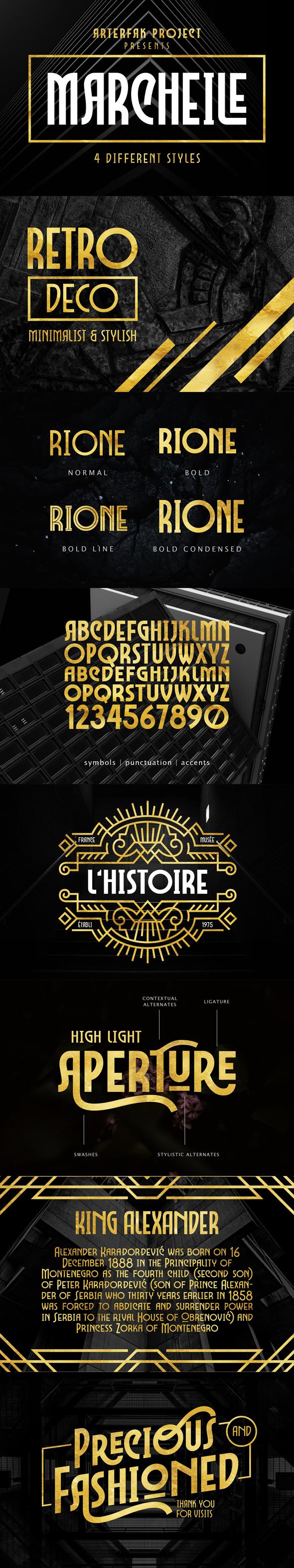 Marcheile - Condensed Serif
