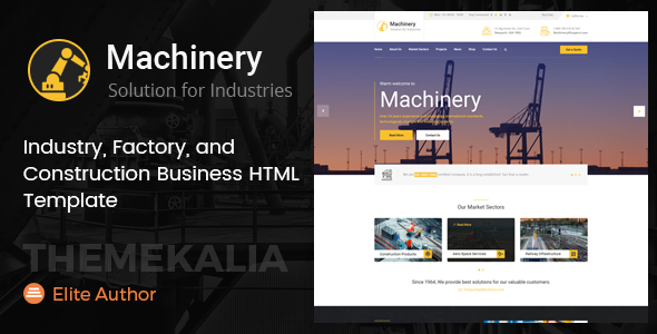 Machinery - Factory Business HTML Template