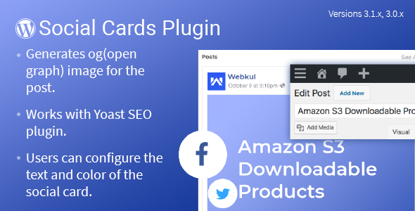 WordPress Social Cards            Nulled