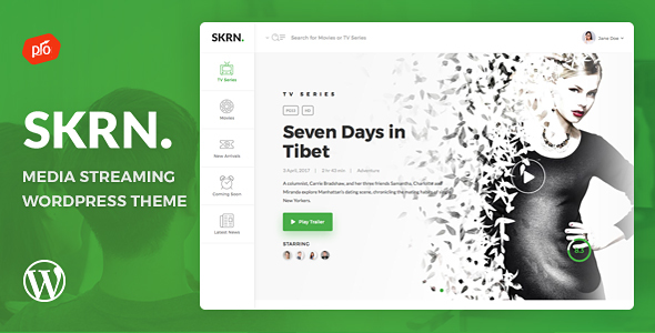 SKRN - Media Streaming App WordPress Theme