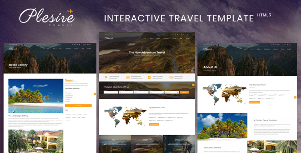 Plesire - Interactive Travel Template - Travel Retail