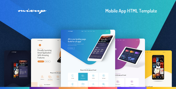 Mixup - App Landing Page HTML Template - Technology Site Templates