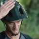Man Cyclist Knocks His Hand on Helmet on His Head - VideoHive Item for Sale