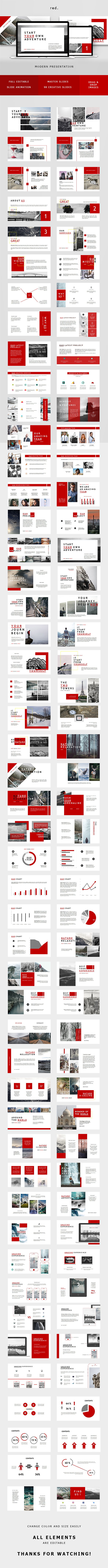 Red Minimal Keynote Template - Keynote Templates Presentation Templates