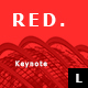 Red Minimal Keynote Template - GraphicRiver Item for Sale