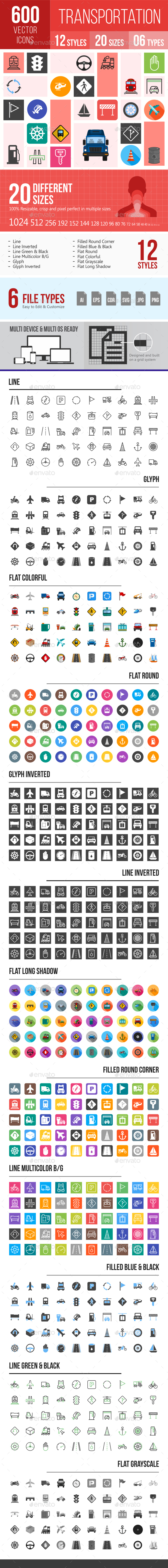 600 Transport Icons - Icons