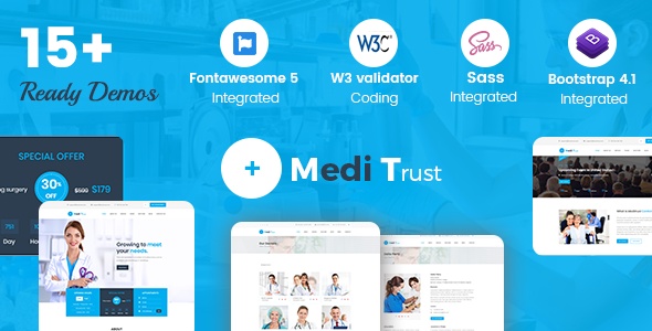 Meditrust - Medical HTML Template For Hospital, Clinic and Personal