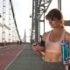Senior Female Using Sport App on Mobile Phone - VideoHive Item for Sale