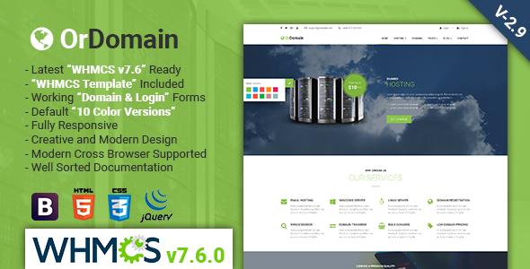 OrDomain | Responsive HTML5 WHMCS Hosting Template - Hosting Technology