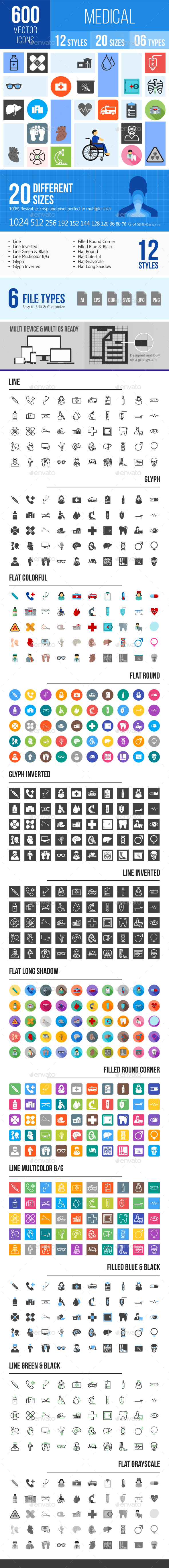 600 Medical Icons - Icons