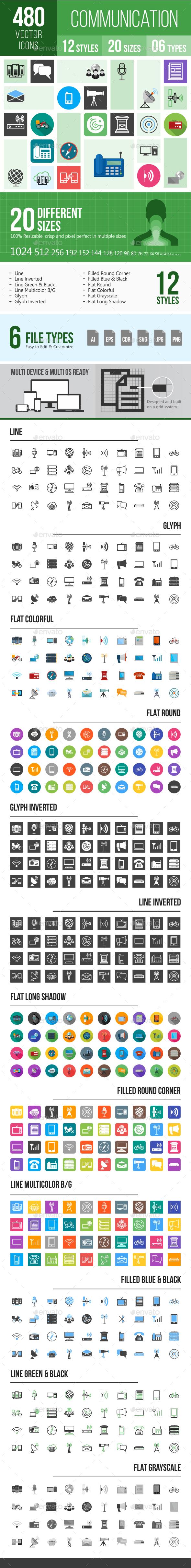 480 Communication Icons - Icons