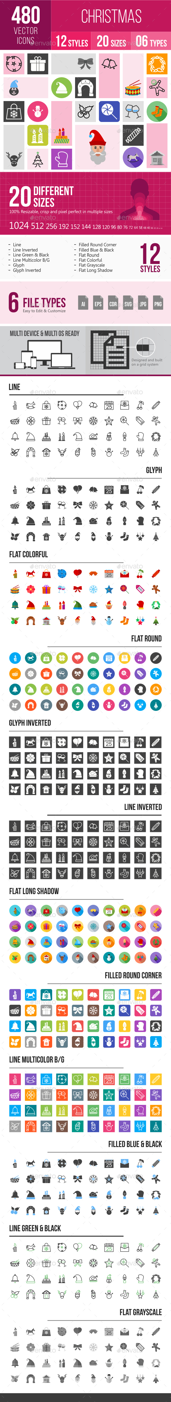 480 Christmas Icons - Icons