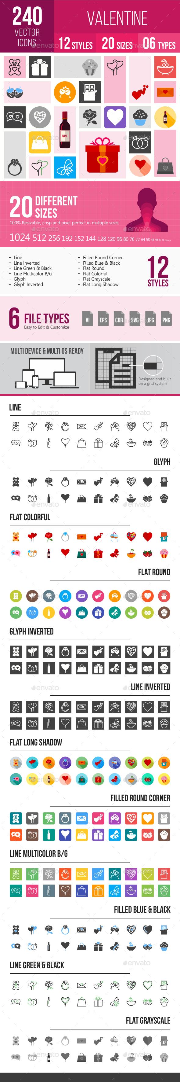 240 Valentine Icons - Icons