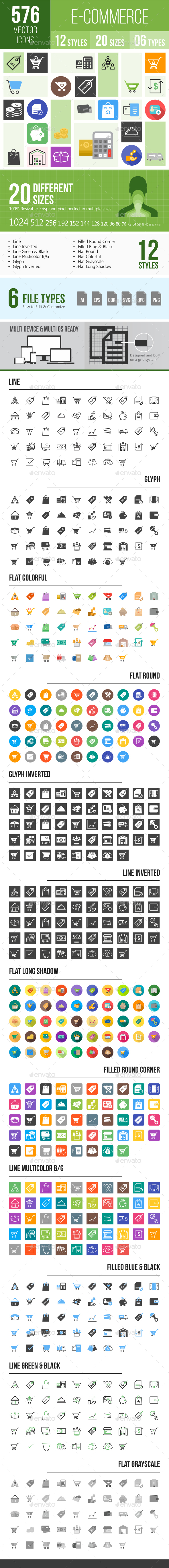 576 Ecommerce Icons - Icons