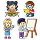 Activity Kids Reading Writing Counting Painting - GraphicRiver Item for Sale