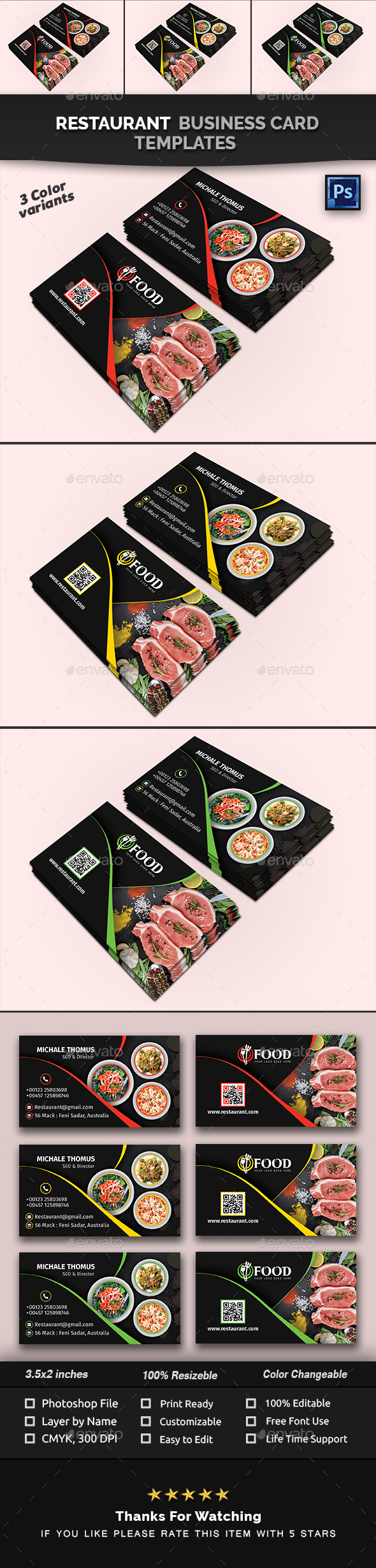 Restaurant Business Card - Creative Business Cards