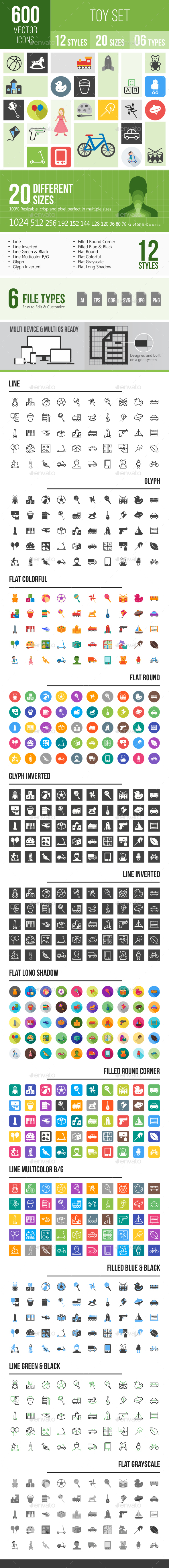 Toys Icons - Icons