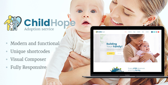 ChildHope | Child Adoption Service & Charity WordPress Theme
