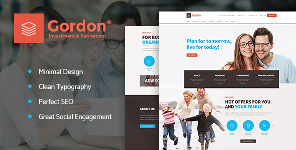 Gordon | Investments & Insurance Company WordPress Theme