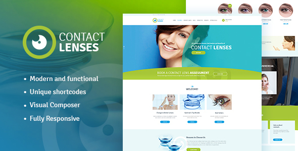 Contact Lenses Store & Vision Therapy Clinic WordPress Theme