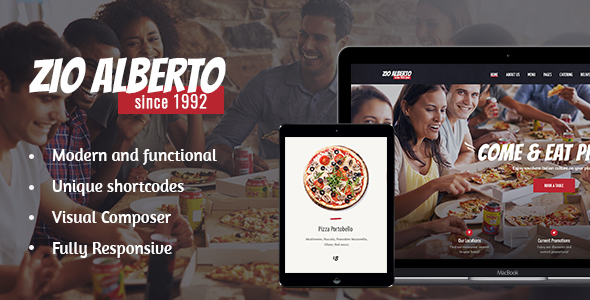 Zio Alberto | A Restaurant Cafe Bistro WordPress Theme